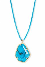Kendra Scott Kendra Scott Beatrix Necklace in Gold Aqua Howlite