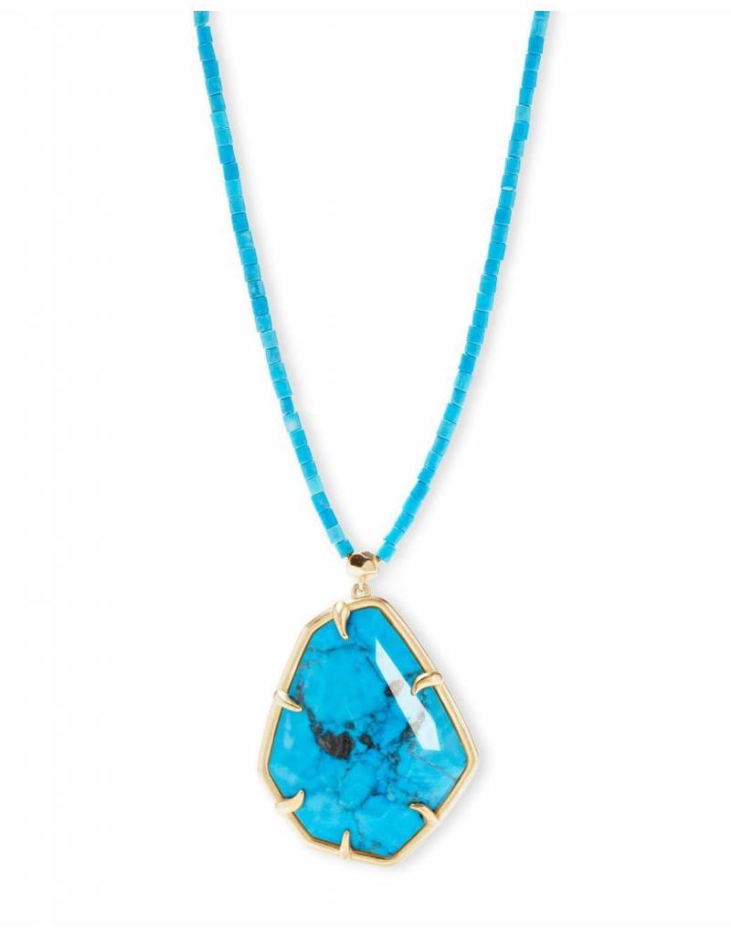 Kendra Scott Kendra Scott Beatrix Necklace in Gold Aqua Howlite