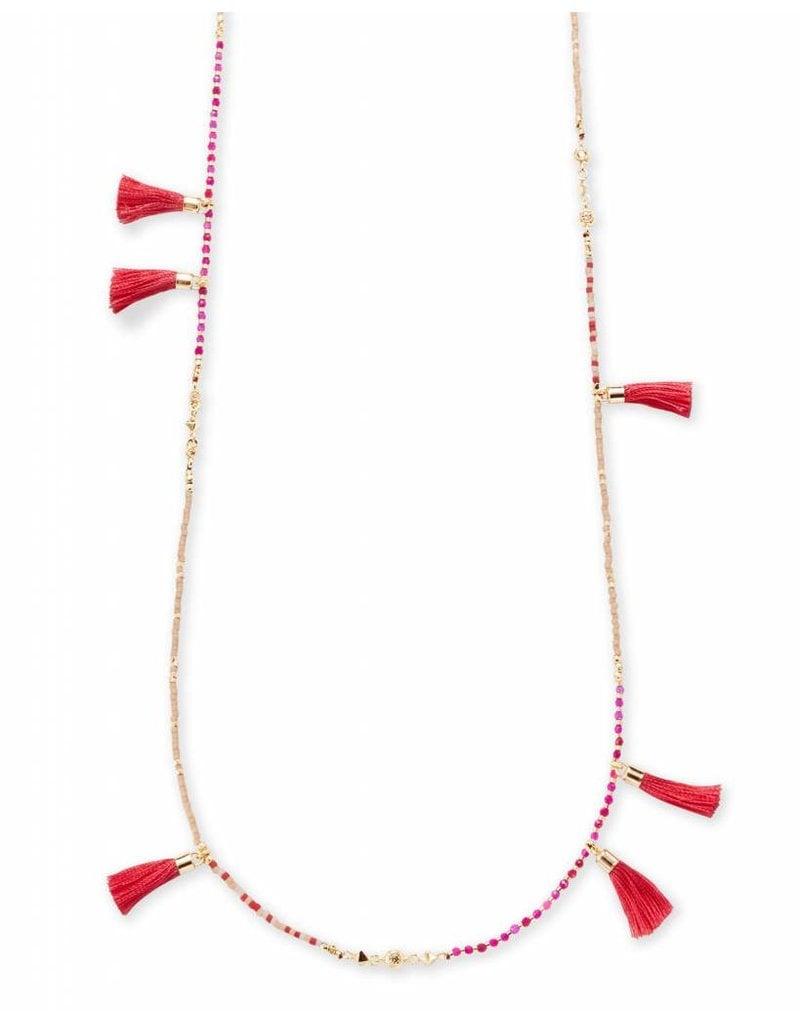 Kendra Scott Kendra Scott Augusta Necklace in Gold Pink Mix