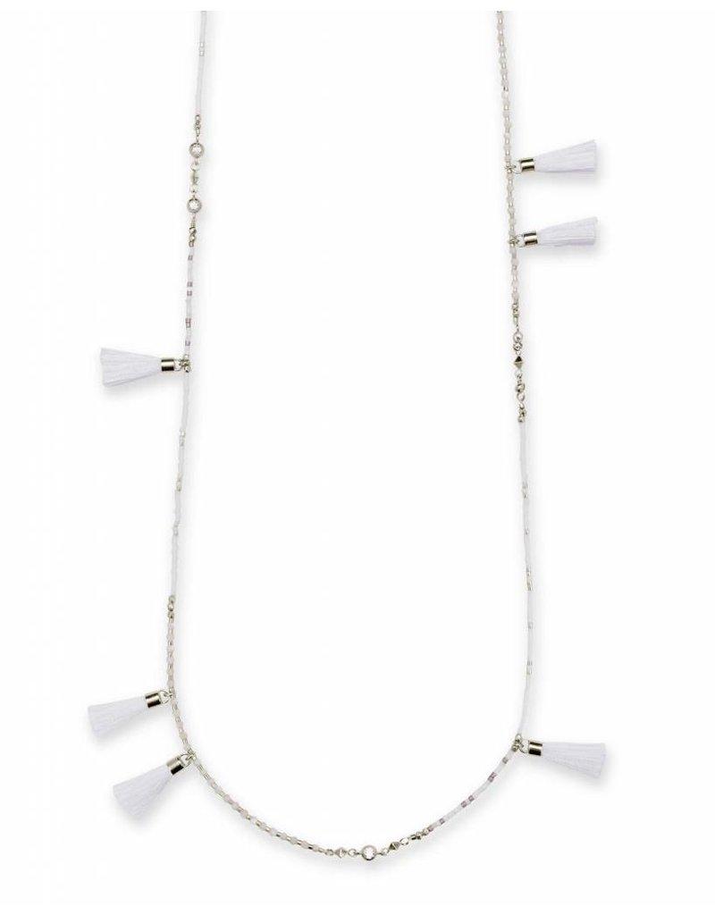 Kendra Scott Kendra Scott Augusta Necklace in Silver Ivory Mix