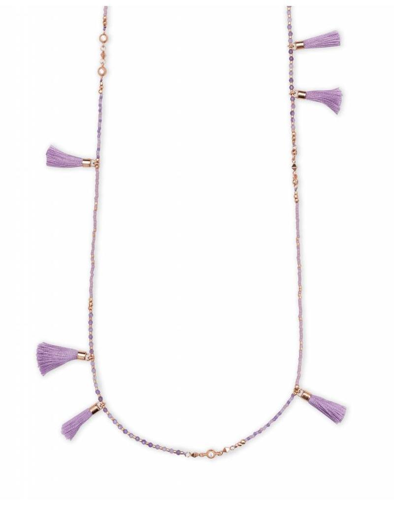 Kendra Scott Kendra Scott Augusta Necklace in Rose Gold Lilac Mix