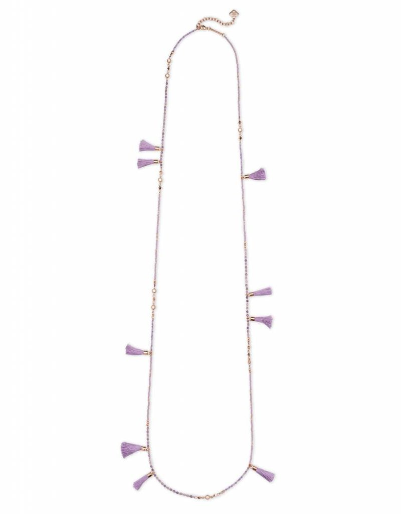 Kendra Scott Kendra Scott Augusta Necklace in Rose Gold Lilac Mix