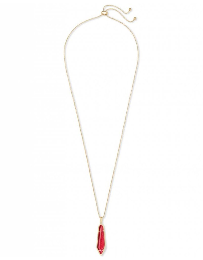 Kendra Scott Kendra Scott Cassidy Necklace in Gold Red MOP