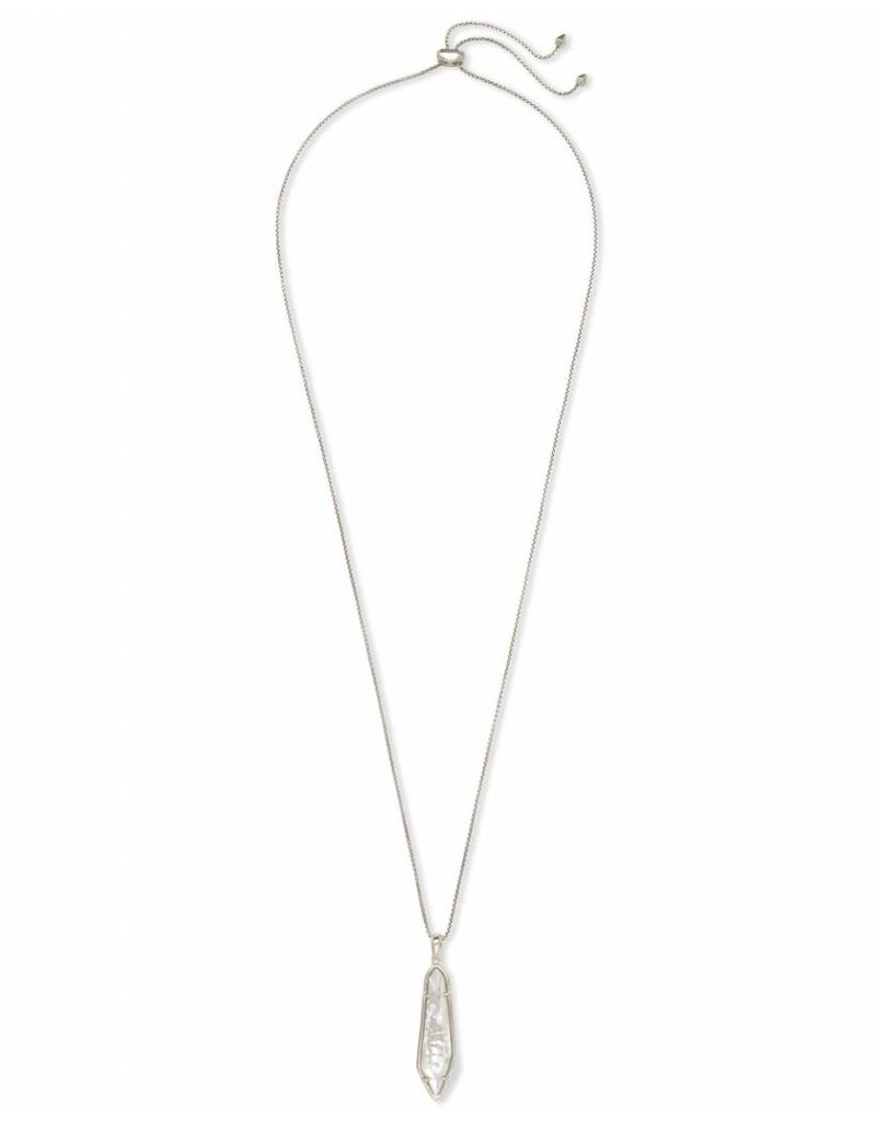 Kendra Scott Kendra Scott Cassidy Necklace in Silver Ivory MOP