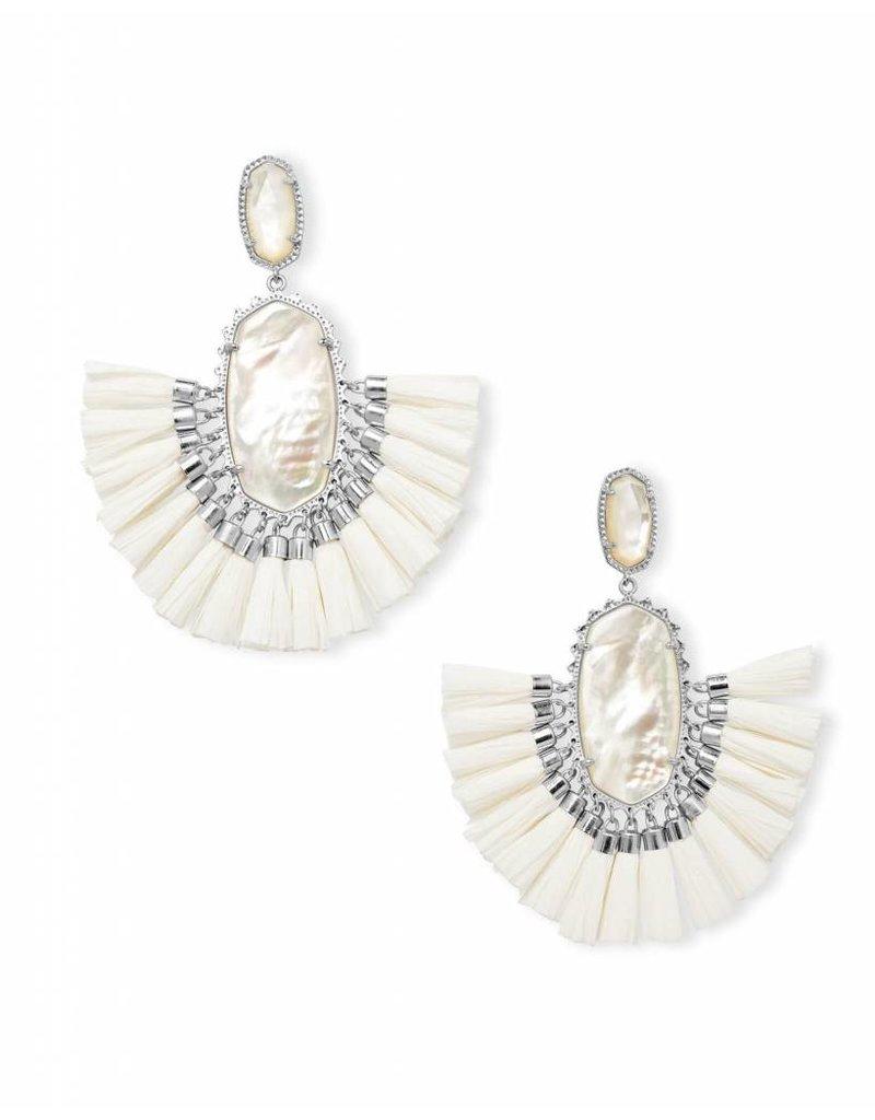 Kendra Scott Kendra Scott Cristina Earrings in Silver Ivory MOP