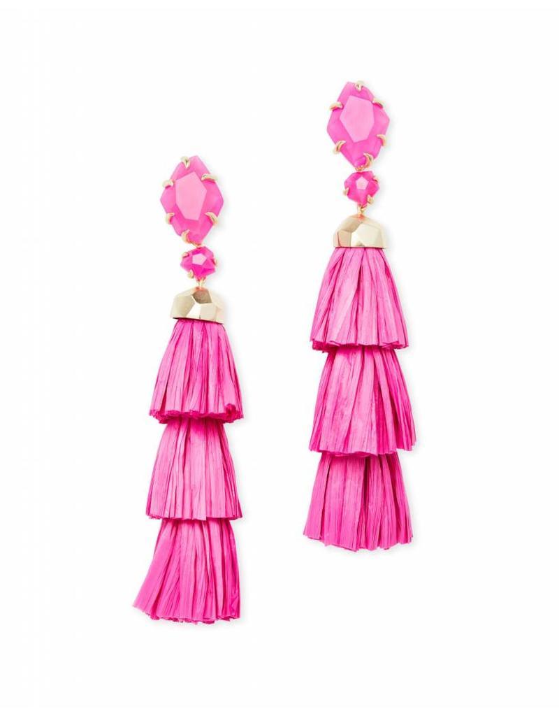 Kendra Scott Kendra Scott Denise Earrings in Pink Unbanded Agate