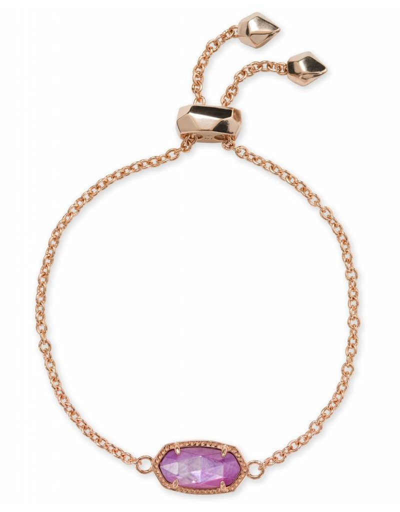 Kendra Scott Kendra Scott Elaina Bracelet in Rose Gold Lilac MOP