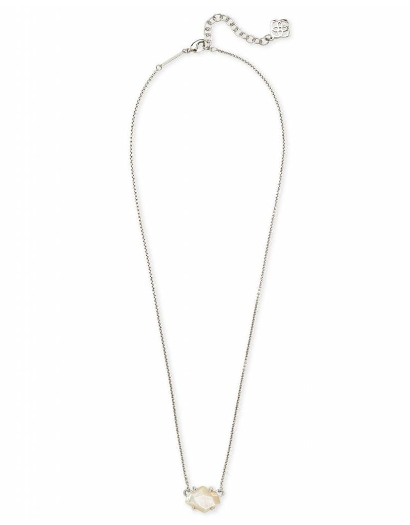 Kendra Scott Kendra Scott Ethan Necklace in Silver Ivory MOP