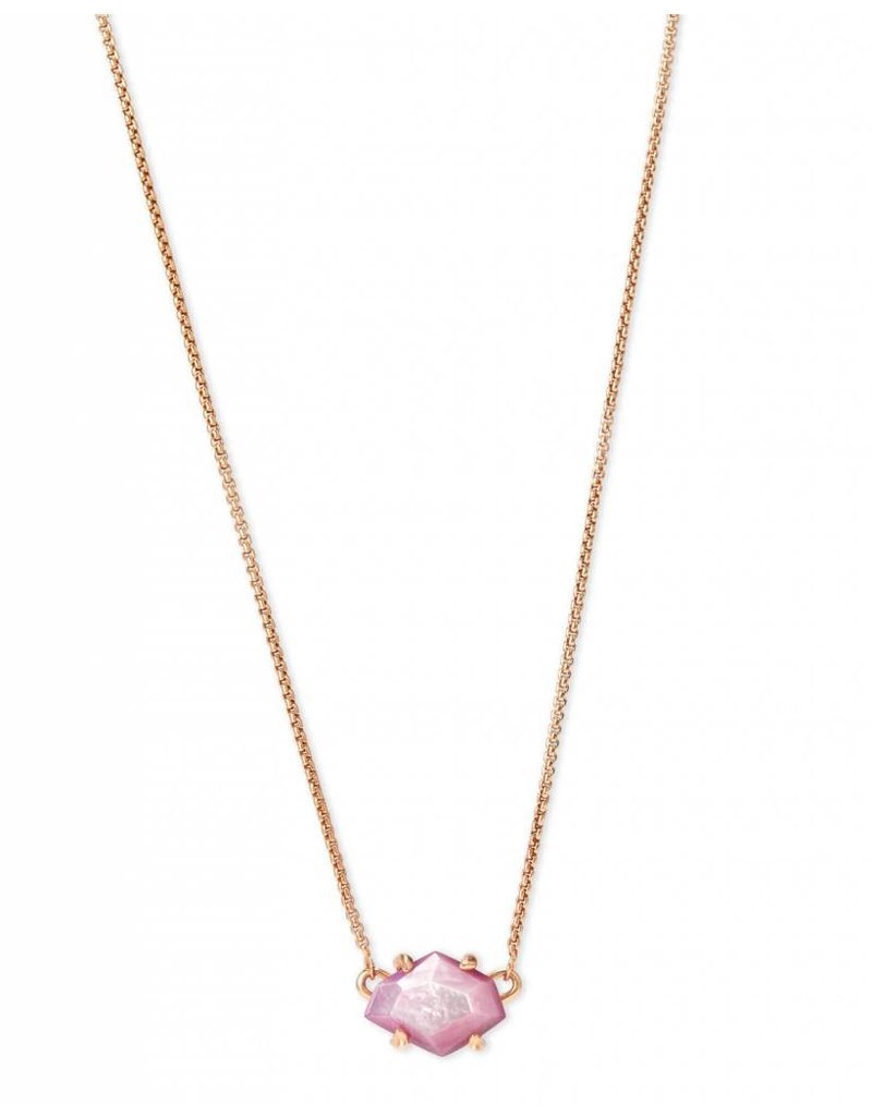 Kendra Scott Kendra Scott Ethan Necklace in Rose Gold Lilac MOP