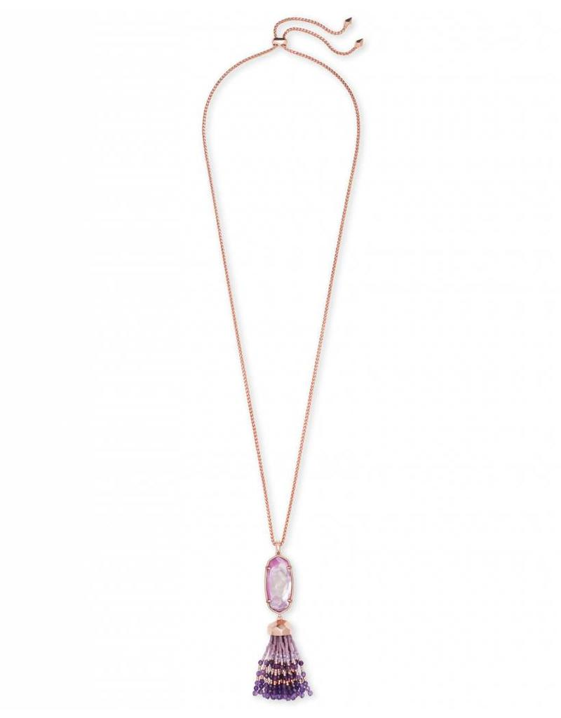 Kendra Scott Kendra Scott Eva Necklace in Rose Gold Lilac MOP