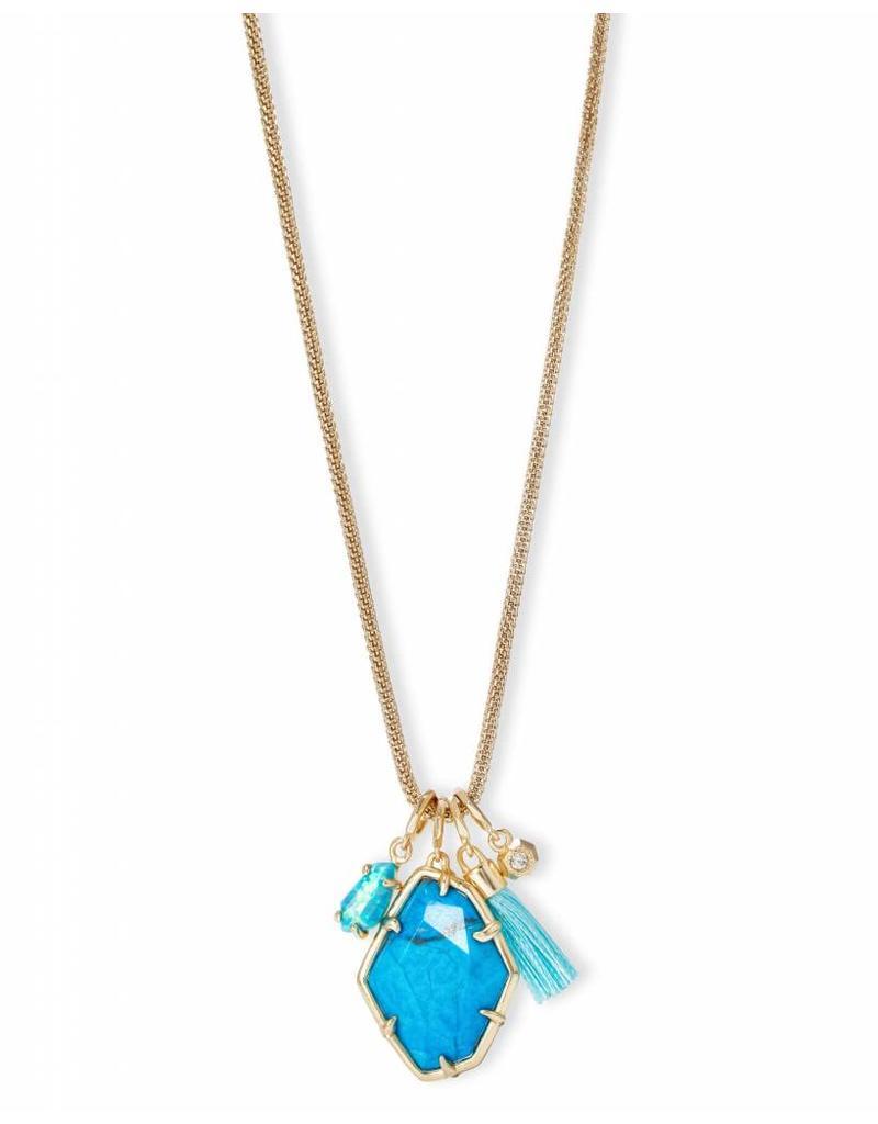 Kendra Scott Kendra Scott Hailey Necklace in Gold Aqua Howlite