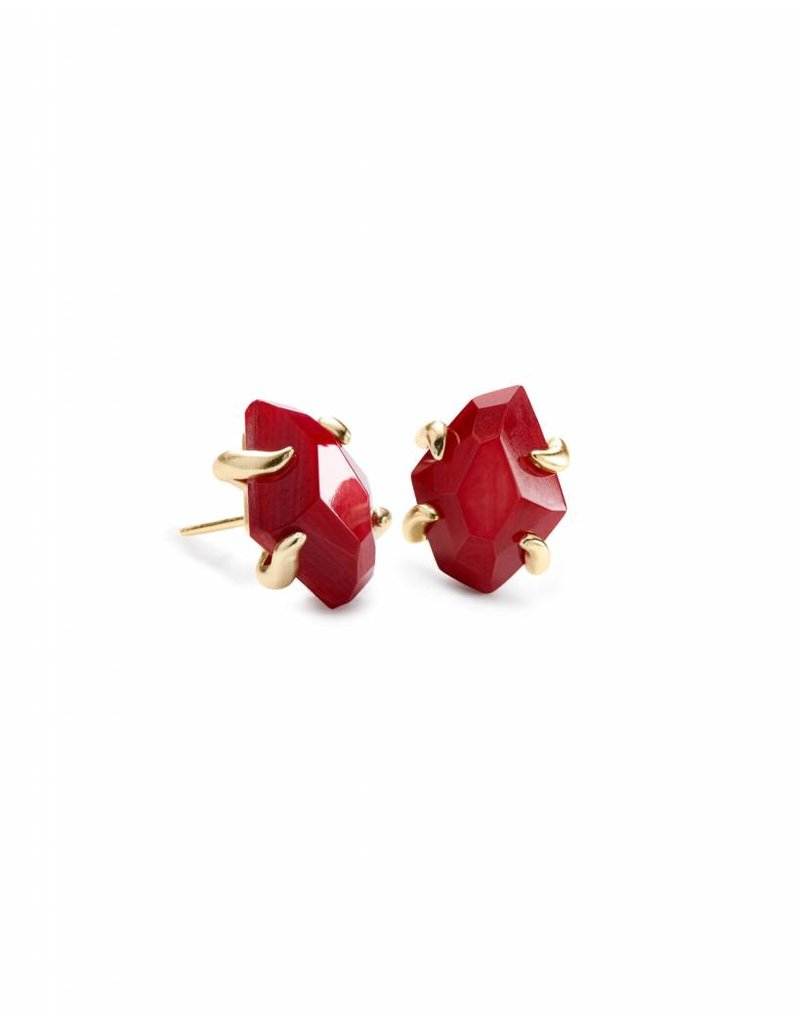 Kendra Scott Inaiyah Studs in Gold Red MOP