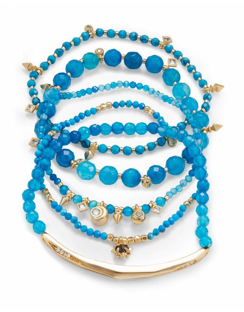 Kendra Scott Kendra Scott Supak Bracelets in Gold Aqua Mix