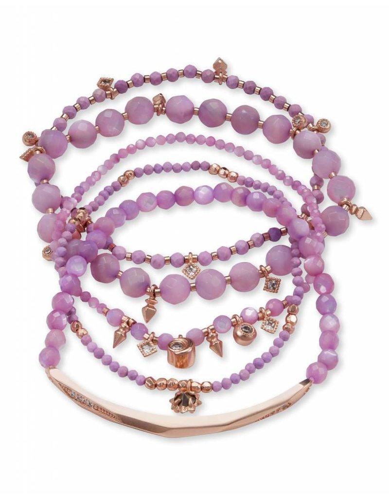 Kendra Scott Kendra Scott Supak Bracelets in Rose Gold Lilac Mix