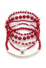 Kendra Scott Kendra Scott Supak Bracelets in Gold Red Mix