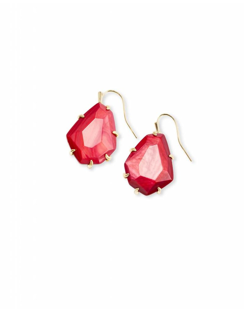 Kendra Scott Kendra Scott Rosenell Studs in Gold Red MOP
