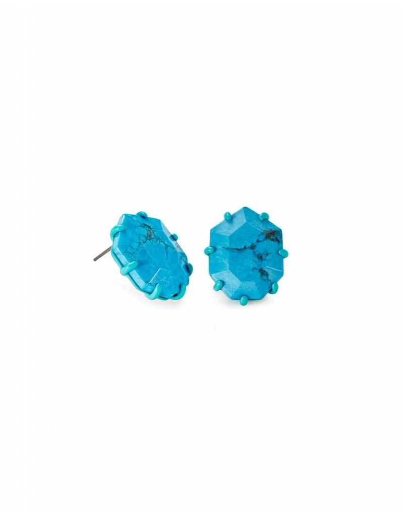 Kendra Scott Kendra Scott Morgan Studs in Aqua Howlite