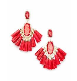Kendra Scott Kristen Earrings in Gold Red MOP