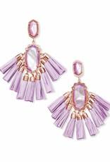 Kendra Scott Kendra Scott Kristen Earrings in Rose Gold Lilac MOP