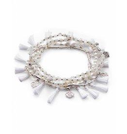 Kendra Scott Kendra Scott Julie Bracelets in Silver Ivory Mix