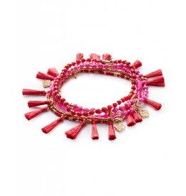 Kendra Scott Kendra Scott Julie Bracelets in Gold Pink Mix