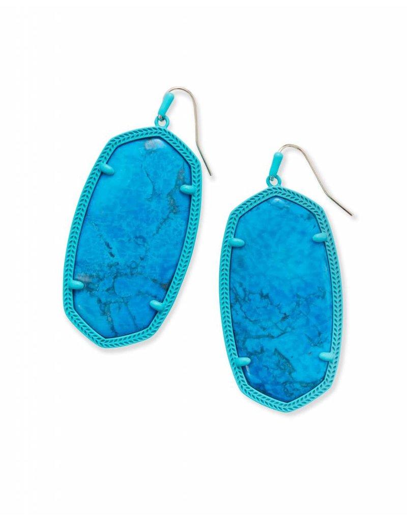 Kendra Scott Kendra Scott Danielle Matte Earrings in Aqua Howlite