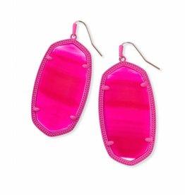 Kendra Scott Kendra Scott Danielle Matte Earrings in Pink Unbanded Agate