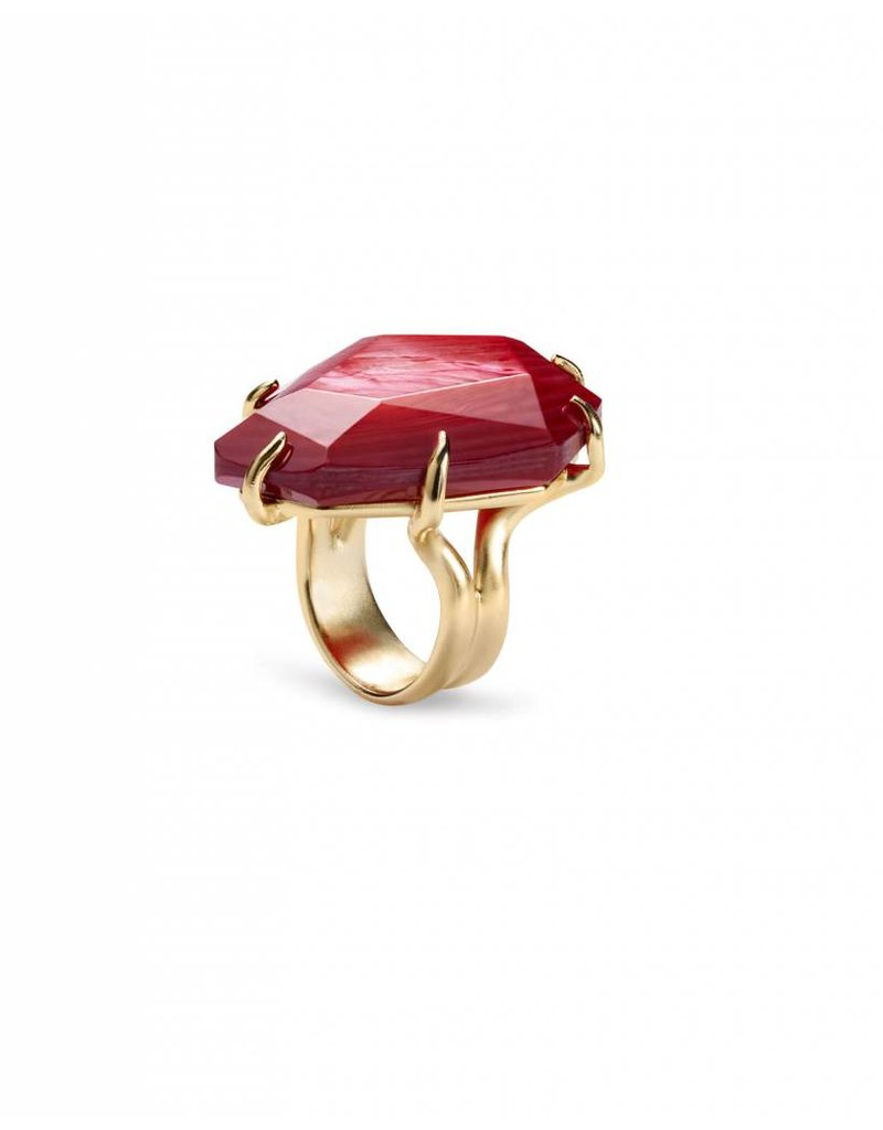 Kendra Scott Kendra Scott Megan Ring in Gold Red MOP- 7