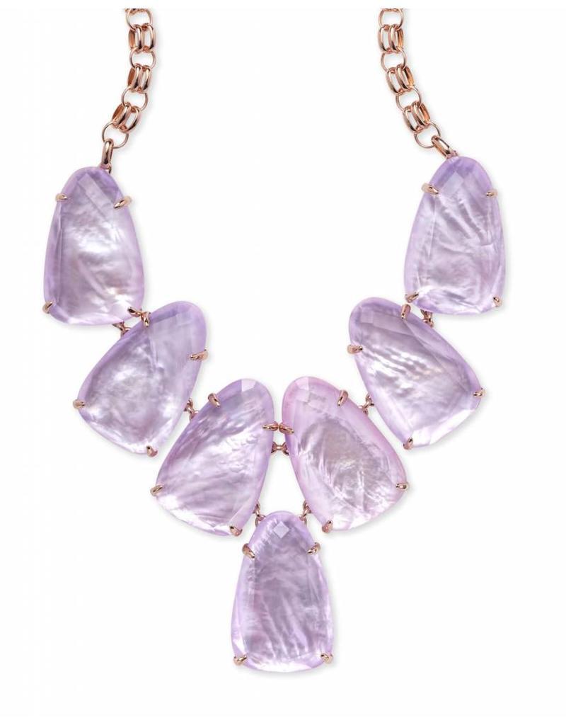 Kendra Scott Kendra Scott Harlow Necklace in Rose Gold Lilac MOP