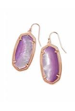 Kendra Scott Kendra Scott Elle Earrings in Rose Gold Lilac MOP