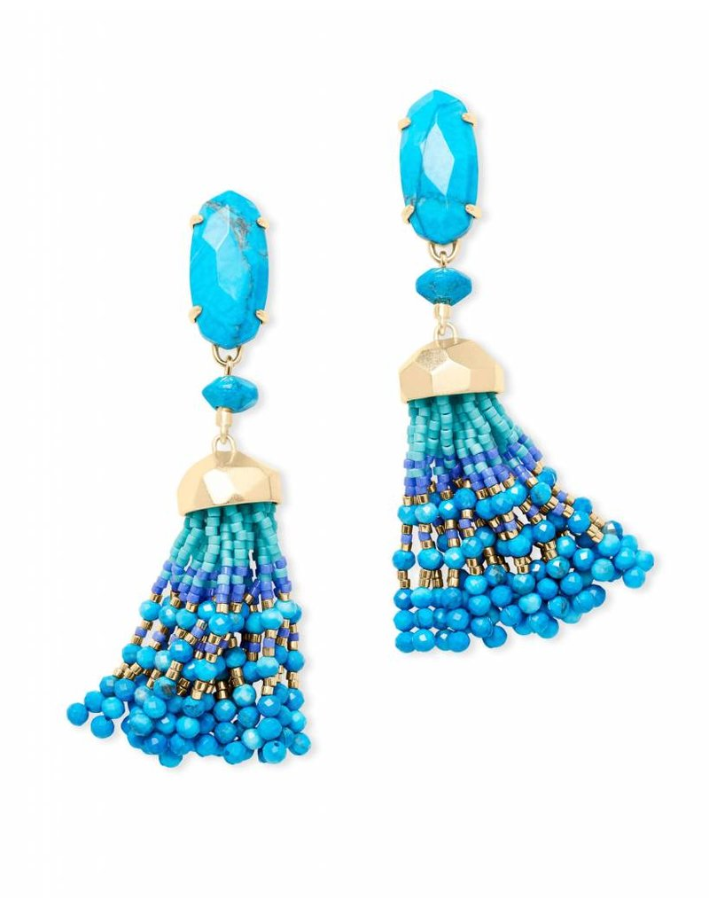 Kendra Scott Kendra Scott Dove Earrings in Gold Aqua Howlite