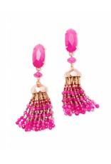 Kendra Scott Kendra Scott Dove Earrings in Gold Pink Unbanded Agate
