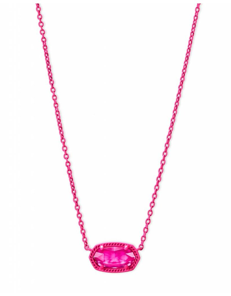 Kendra Scott Kendra Scott Elisa Necklace in Matte Pink Unbanded Agate