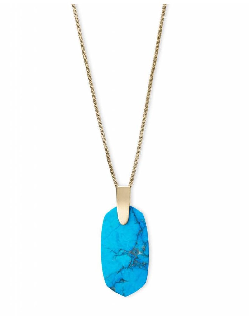 Kendra Scott Kendra Scott Inez Necklace in Gold Aqua Howlite