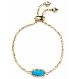 Kendra Scott Kendra Scott Elaina Bracelet in Gold Aqua Howlite