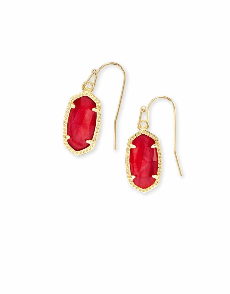 Brand new Kendra Scott Lee Earrings in Gold Red MOP - Rhinestone Angel JH01