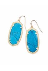 Kendra Scott Kendra Scott Elle Earrings in Gold Aqua Howlite