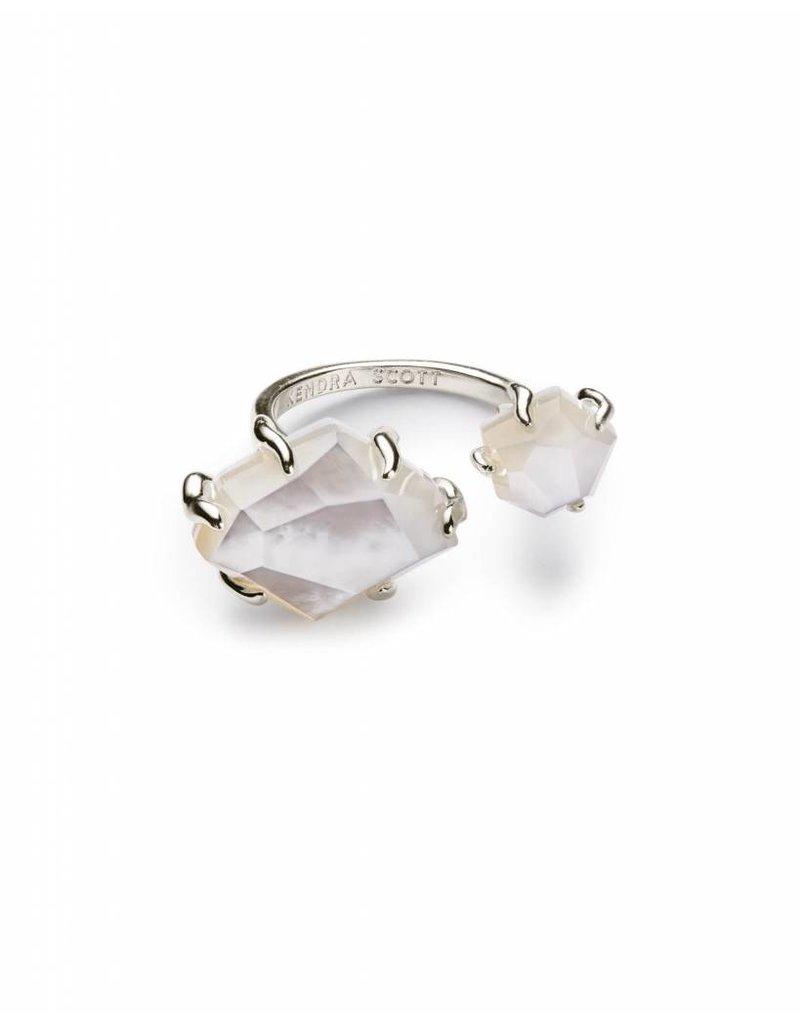 Kendra Scott Kendra Scott Kayla Ring in Silver Ivory MOP-M/L