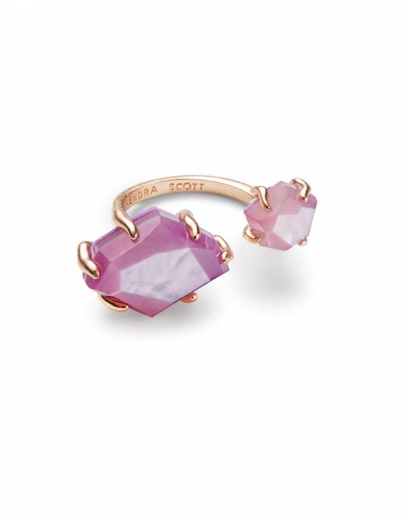Kendra Scott Kendra Scott Kayla Ring in Rose Gold Lilac MOP-M/L