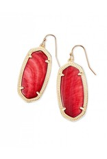 Kendra Scott Kendra Scott Elle Earrings in Gold Red MOP