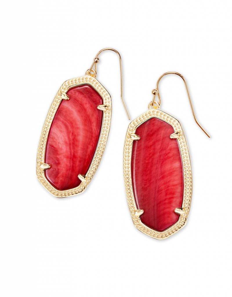 Kendra Scott Kendra Scott Elle Earrings in Gold Red MOP