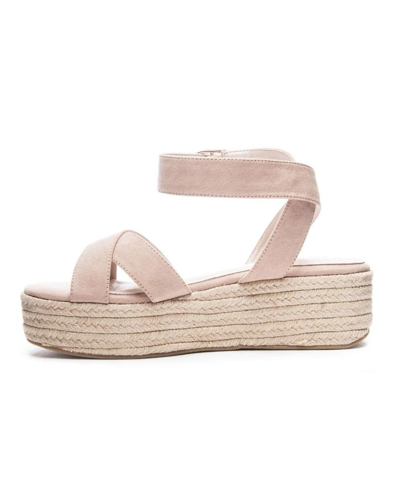 Chinese Laundry Zala Micro Suede in Dark Nude