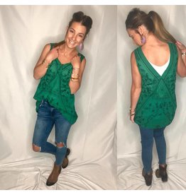 Free People Free People Sweetest Shifty Top- Green