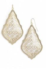 Kendra Scott Adair Earrings Gold Filigree on Gold