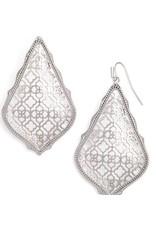 Kendra Scott Adair Earrings Silver Filigree in Silver