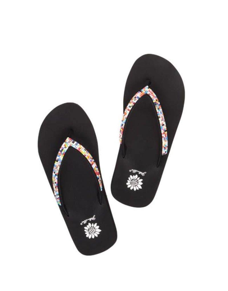 1404c4203ebb26 Girl s Mae II Sandals in Rainbow - Rhinestone Angel