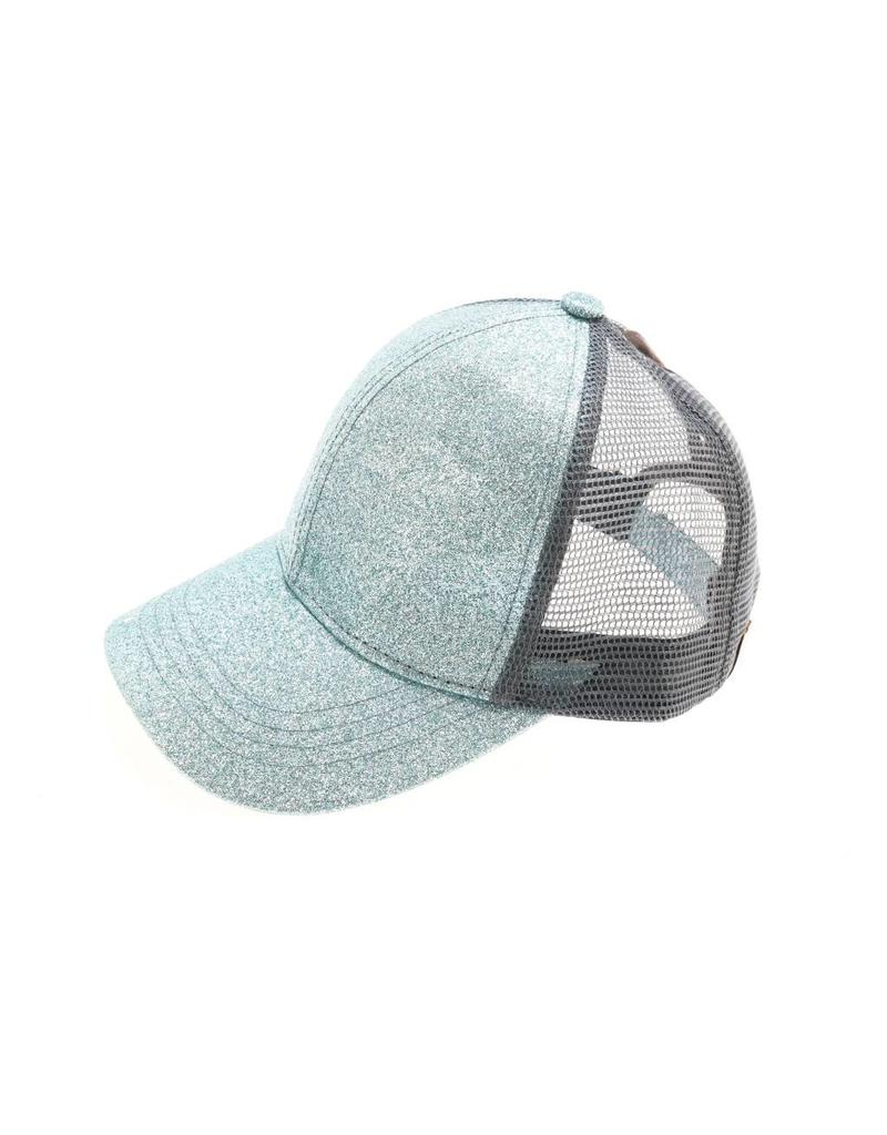 C.C Glitter Ponytail Cap