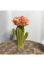 9 in Green Cactus Vase
