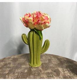 Large Green Cactus Vase