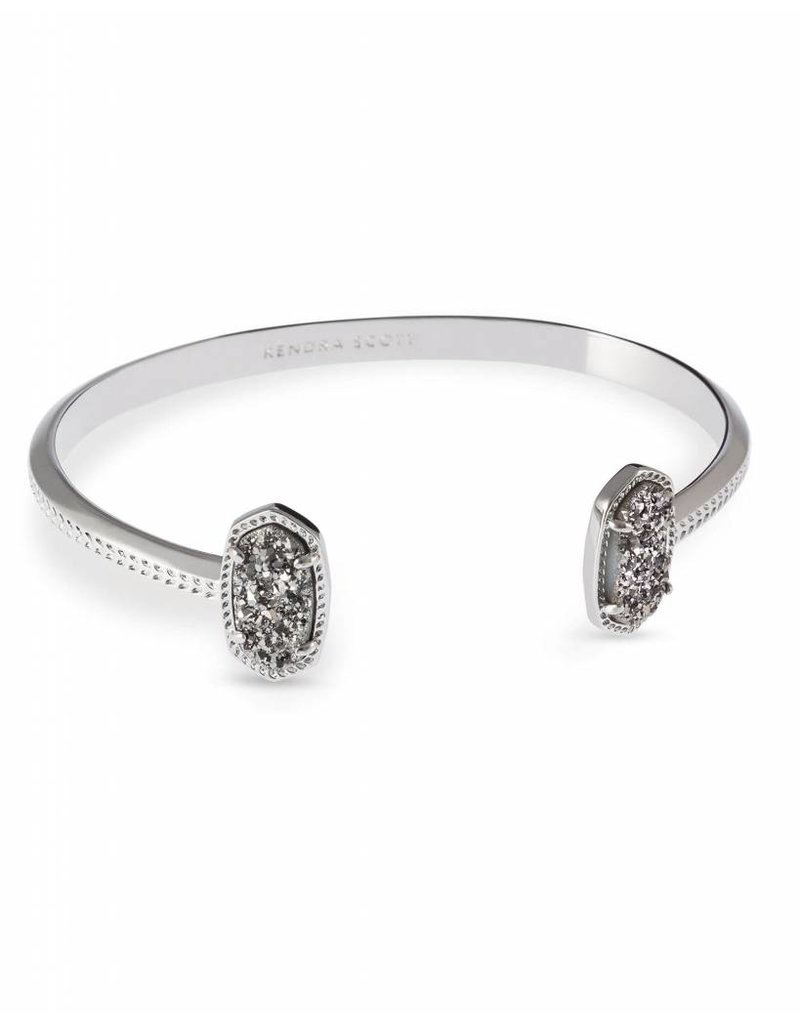 Kendra Scott Kendra Scott Elton Bracelet in Platinum Drusy on Silver